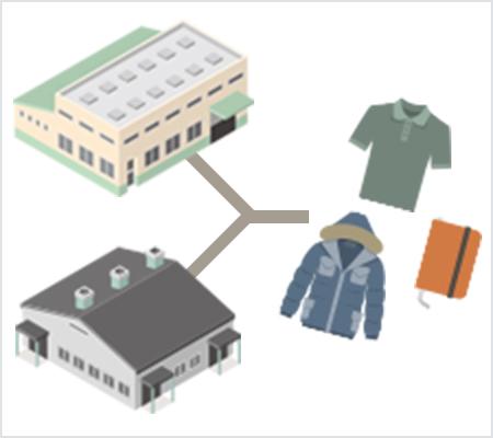 国内外の工場ネットワークイメージ