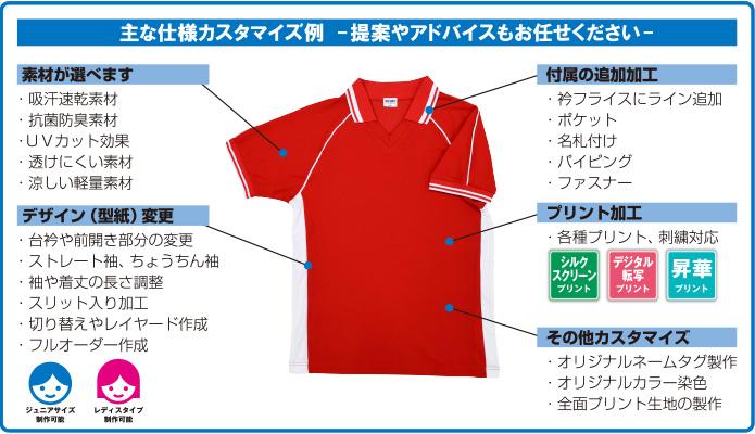 オーダーオリジナルポロシャツ製作 カスタマイズ例