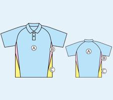 セミオーダーポロシャツデザイン事例