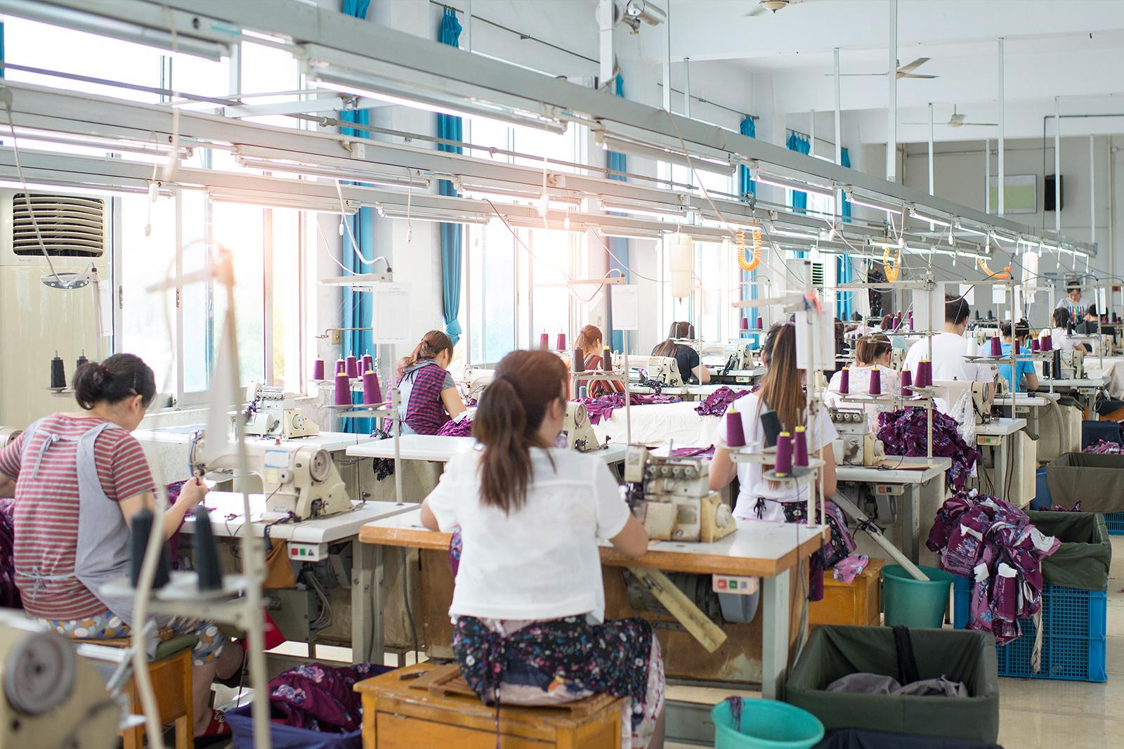 縫製工場の画像