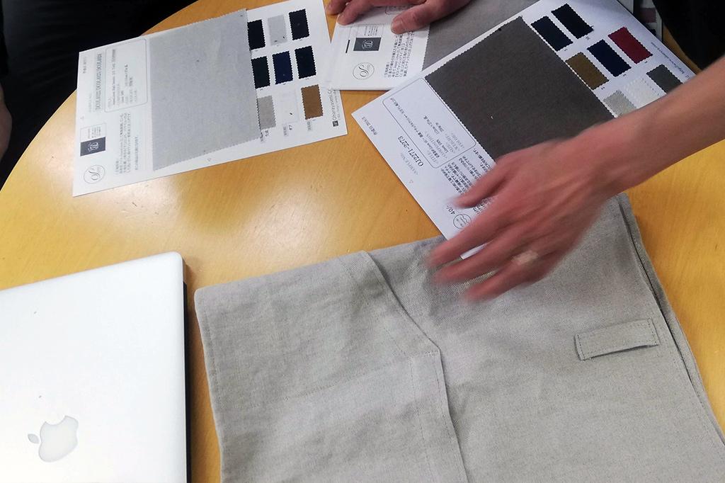 リネン で製品開発会議の画像
