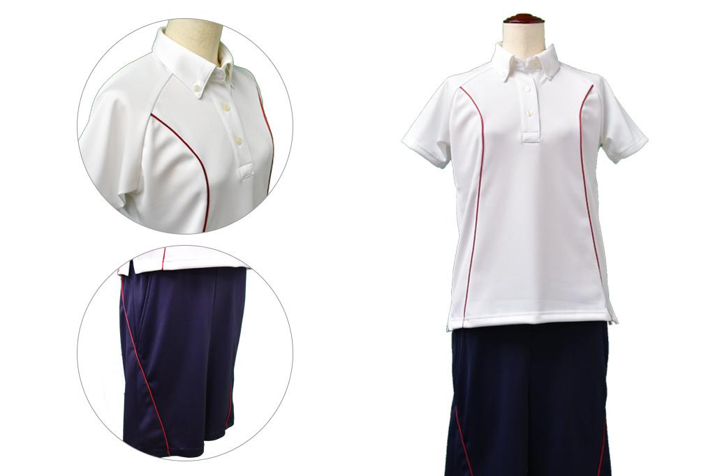 フィットネス・レジャー施設向けポロシャツ・ハーフパンツセット試作