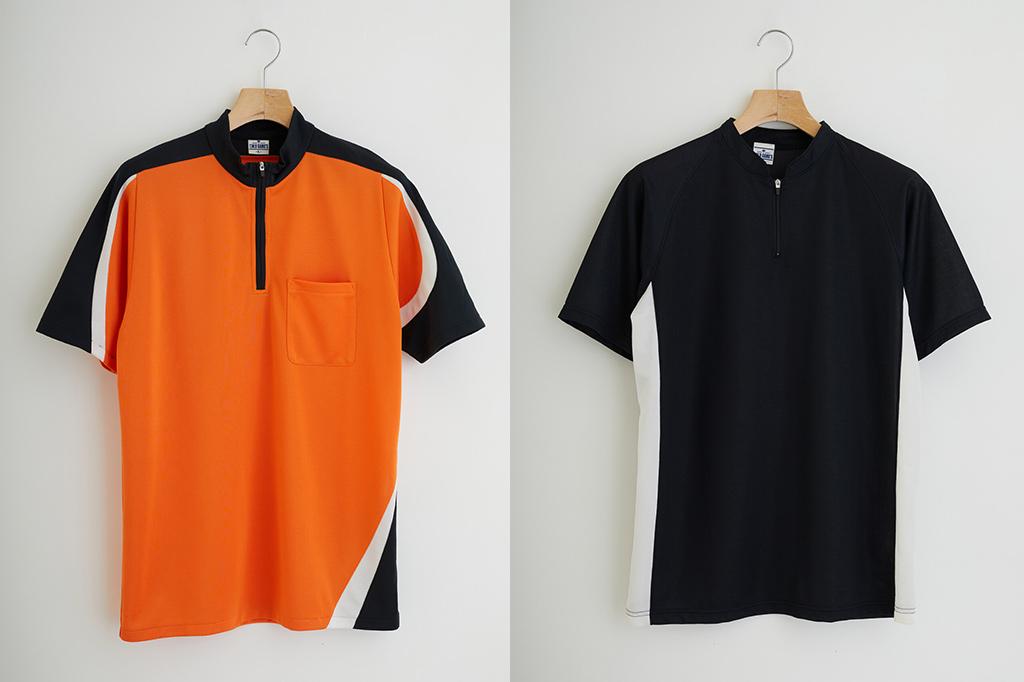 ジップアップTシャツ生産事例画像