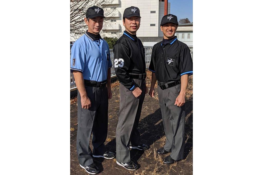 野球審判用ポロシャツ2種類画像